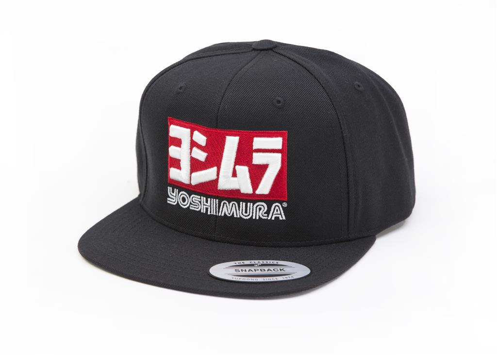 Yoshimura Hat with Logo: Black Snapback