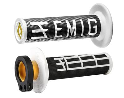 EMIG V2 LOCK-ON GRIPS BLACK/WHITE