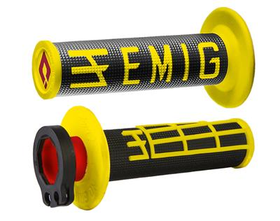 EMIG V2 LOCK-ON GRIPS BLACK/YELLOW